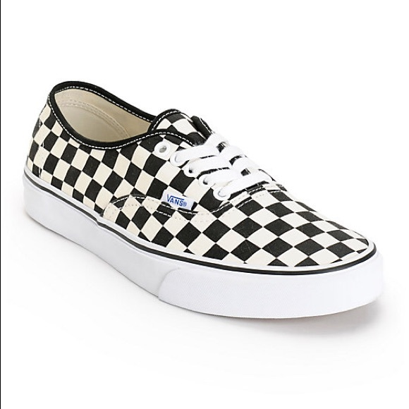 Vans men\u2019s checkered sneakers with laces size 13